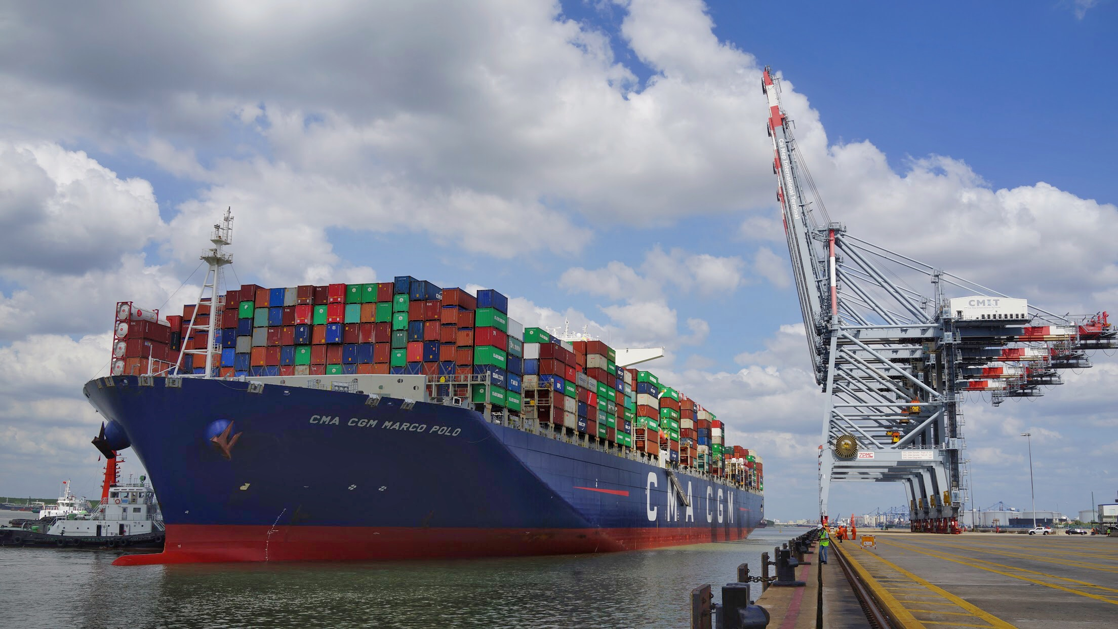 First call of CMA CGM MARCO POLO vessel at CMIT