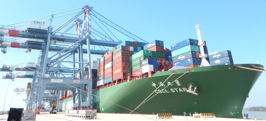 Welcome CSCL Star to CMIT - The biggest Ultra Large Container Vessel calling in Vietnam - (10/29/2015)