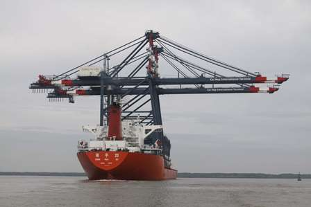 Arrival of Cranes and RTGs