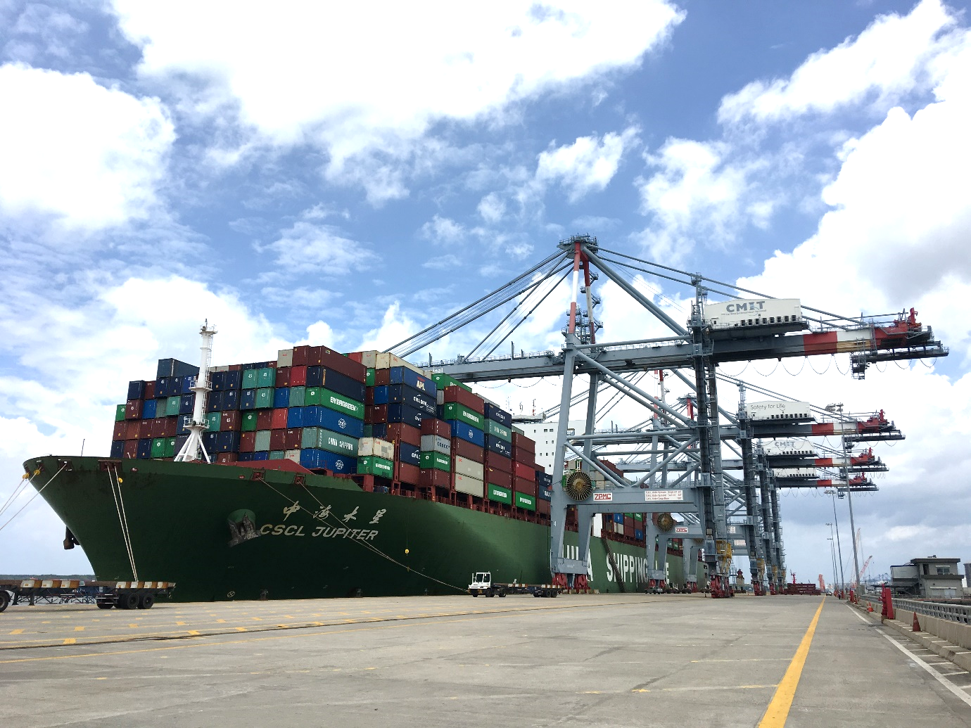 CMIT CONTINUES TO SET A NEW RECORD IN TERMINAL OPERATIONS